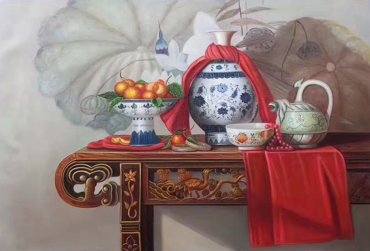 """Simple modern Hand painted oil painting on canvas""""ceramics""""60x90CM(23.6""""x35.4"""")Unframed-02"""