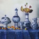 "Simple modern Hand painted oil painting on canvas""ceramics""60x90CM(23.6""x35.4"")Unframed-04"