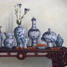 "Simple modern Hand painted oil painting on canvas""ceramics""60x90CM(23.6""x35.4"")Unframed-05"