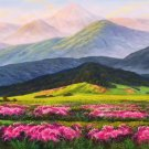 """American style Hand painted oil painting on canvas""""Shangri-La""""70x180CM(27.6""""x70.9"""")Unframed-34"""