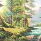 """American style Hand painted oil painting on canvas""""forest""""70x180CM(27.6""""x70.9"""")Unframed-14"""