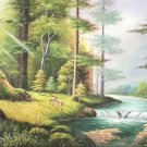 """American style Hand painted oil painting on canvas""""forest""""70x180CM(27.6""""x70.9"""")Unframed-18"""