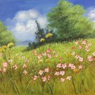 """Simple modern Hand painted oil painting on canvas""""tiny Pink blossoms""""50x60CM(19.7""""x23.6"""")Unframed-02"""