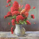 "Simple modern Hand painted oil painting on canvas""Potted flowers""50x60CM(19.7""x23.6"")Unframed-04"