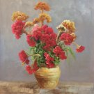 """Simple modern Hand painted oil painting on canvas""""Potted flowers""""50x60CM(19.7""""x23.6"""")Unframed-05"""
