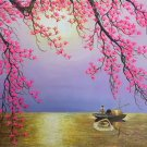 """Simple modern Landscape Hand painted oil painting on canvas""""Sunset""""60x90CM(23.6""""x35.4"""")Unframed-5"""