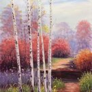 """Nordic style Hand painted oil painting on canvas""""forest"""":60x90CM(23.6""""x35.4"""")Unframed-21"""