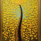 "Simple modern Hand painted oil painting on canvas""Gold tree""68x108CM(26.8""x42.5"")Unframed-07"