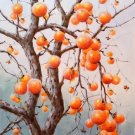 "Hand painted oil painting on canvas""persimmon""60x90CM(23.6""x35.4"")Unframed-06"