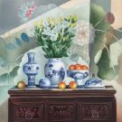 "Chinese style Hand painted oil painting on canvas""ceramics""60x90CM(23.6""x35.4"")Unframed-17"