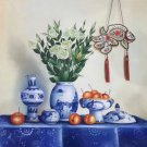 "Chinese style Hand painted oil painting on canvas""ceramics""60x90CM(23.6""x35.4"")Unframed-18"