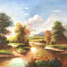 "Hand painted oil painting on canvas""Image of the countryside""50x60CM(19.7""x23.6"")Unframed-09"