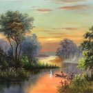 """Hand painted oil painting on canvas""""Image of the countryside""""50x60CM(19.7""""x23.6"""")Unframed-10"""