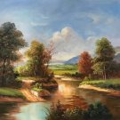 """Hand painted oil painting on canvas""""Image of the countryside""""50x60CM(19.7""""x23.6"""")Unframed-11"""