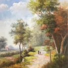 "Hand painted oil painting on canvas""Image of the countryside""60x90CM(23.6""x35.4"")Unframed-19"