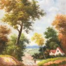 """Hand painted oil painting on canvas""""Image of the countryside""""60x90CM(23.6""""x35.4"""")Unframed-22"""