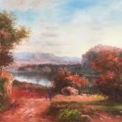"""Hand painted oil painting on canvas""""Image of the countryside""""60x90CM(23.6""""x35.4"""")Unframed-27"""