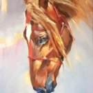 """Hand painted oil painting on canvas""""Akhal-teke horses""""60x80CM(23.6""""x31.5"""")Unframed-02"""