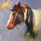 "Hand painted oil painting on canvas""Akhal-teke horses""60x80CM(23.6""x31.5"")Unframed-03"