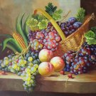"""Hand painted oil painting on canvas""""bumper harvest fruits""""50x60CM(19.7""""x23.6"""")Unframed-04"""