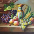 "Hand painted oil painting on canvas""bumper harvest fruits""50x60CM(19.7""x23.6"")Unframed-07"