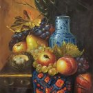 "Hand painted oil painting on canvas""ceramics and harvest fruits""50x60CM(19.7""x23.6"")Unframed-45"