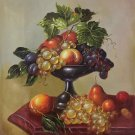 "Hand painted oil painting on canvas""ceramics and harvest fruits""50x60CM(19.7""x23.6"")Unframed-47"