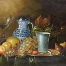 "Hand painted oil painting on canvas""ceramics and harvest fruits""50x60CM(19.7""x23.6"")Unframed-50"