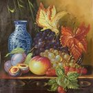 "Hand painted oil painting on canvas""ceramics and harvest fruits""50x60CM(19.7""x23.6"")Unframed-51"