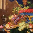 "Hand painted oil painting on canvas""ceramics and harvest fruits""60x90CM(23.6""x35.4"")Unframed-26"