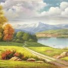 """American style Hand painted oil painting on canvas""""Creek""""70x180CM(27.6""""x70.9"""")Unframed-39"""