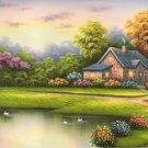 """European style Hand-painted oil painting on canvas""""mind home""""70x180CM(27.6""""x70.9"""")Unframed-18"""