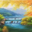 "American style Hand painted oil painting on canvas""Creek""70x180CM(27.6""x70.9"")Unframed-42"
