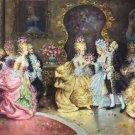 "palace Hand painted oil painting on canvas""Royal member""60x90CM(23.6""x35.4"")Unframed-13"