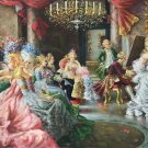 """palace Hand painted oil painting on canvas""""Royal member""""60x90CM(23.6""""x35.4"""")Unframed-15"""