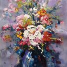 """Simple modern Hand painted oil painting on canvas""""Potted flowers""""50x70CM(19.7""""x27.6"""")Unframed-16"""