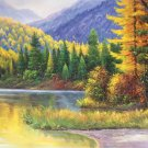 """Hand painted oil painting on canvas""""Creek""""60x90CM(23.6""""x35.4"""")Unframed-50"""