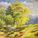 """Hand painted oil painting on canvas""""Image of the countryside""""60x90CM(23.6""""x35.4"""")Unframed-31"""