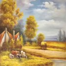 """Hand painted oil painting on canvas""""Image of the countryside""""60x90CM(23.6""""x35.4"""")Unframed-32"""