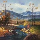 "Hand painted oil painting on canvas""Creek""50x60CM(19.7""x23.6"")Unframed-54"