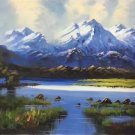 """Hand painted oil painting on canvas""""Creek""""50x60CM(19.7""""x23.6"""")Unframed-56"""