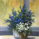 """Simple modern Hand painted oil painting on canvas""""Potted flowers""""50x60CM(19.7""""x23.6"""")Unframed-21"""