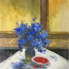 """Simple modern Hand painted oil painting on canvas""""Potted flowers""""50x60CM(19.7""""x23.6"""")Unframed-24"""