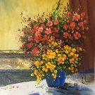 """Simple modern Hand painted oil painting on canvas""""Potted flowers""""50x60CM(19.7""""x23.6"""")Unframed-26"""