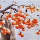 "Hand painted oil painting on canvas""persimmon""60x120CM(23.6""x47.2"")Unframed-15"