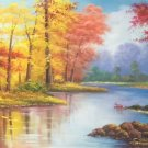 """Hand painted oil painting on canvas""""Mountain and water""""70x180CM(27.6""""x70.9"""")Unframed-63"""