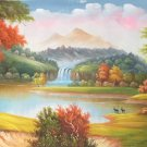 """Hand painted oil painting on canvas""""Mountain and water""""70x180CM(27.6""""x70.9"""")Unframed-65"""