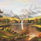 "Hand painted oil painting on canvas""Creek""60x120CM(23.6""x47.2"")Unframed-69"