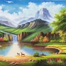 """American style Hand painted oil painting on canvas""""Creek""""70x180CM(27.6""""x70.9"""")Unframed-72"""