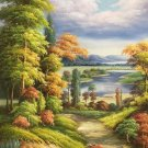 """Hand painted oil painting on canvas""""Creek""""60x90CM(23.6""""x35.4"""")Unframed-75"""